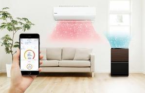 ルームエアコン「エオリア」と加湿空気清浄機がIoT連携