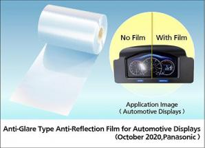 Panasonic Commercializes an Anti-Glare Type Anti-Reflection Film for Automotive Displays