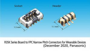 Panasonic Commercializes R35K Series Board to FPC Narrow Pitch Connectors for Wearable Devices